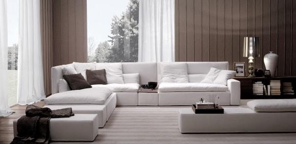 Модульный диван в интерьере стиля лофт