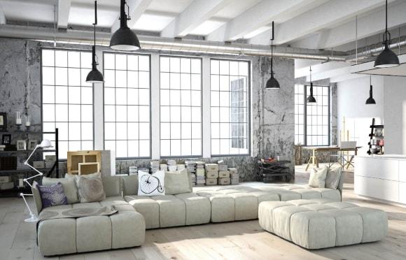 Модульный диван в стиле лофт