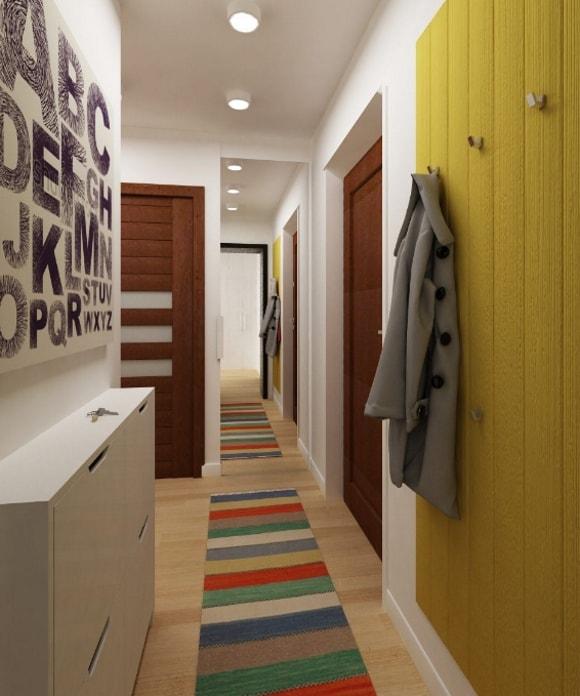 Прихожка с паласом в коридоре