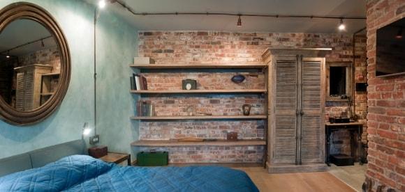 Шкаф в интерьере стиля лофт