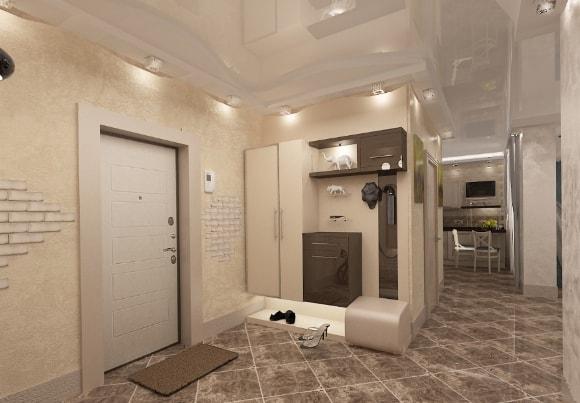 Современная прихожка в коридоре