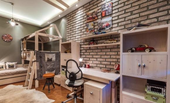 Стиль лофт в интерьере детской комнаты для мальчиков
