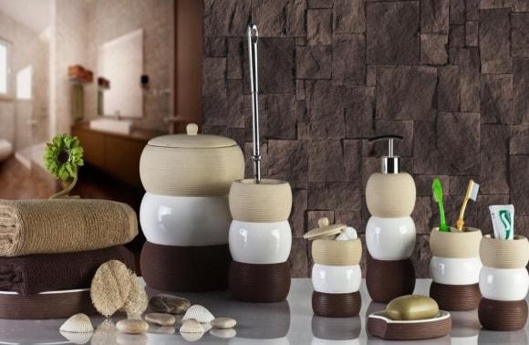 Декорирование скандинавского интерьера дозатором для мыла