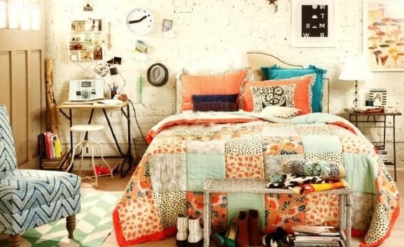 Декорирование скандинавского интерьера постельным бельем