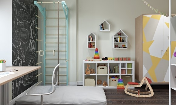Детская комната для мальчика в скандинавском стиле