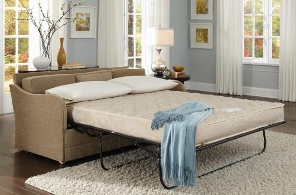Диван-кровать в интерьере скандинавского стиля