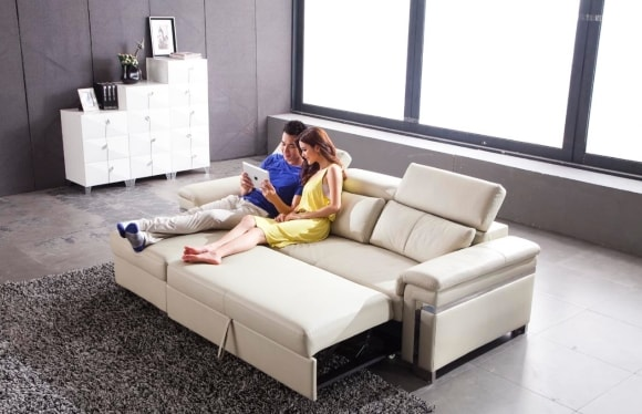 Диван-кровать в сканди-интерьере