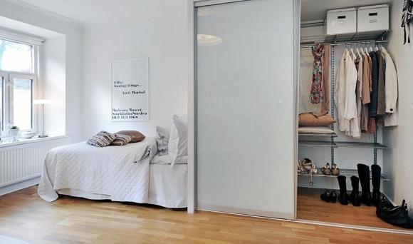 Дизайн интерьера гардеробной скандинавского стиля