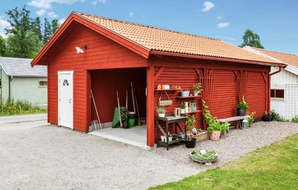 Экстерьер сарая в скандинавском стиле