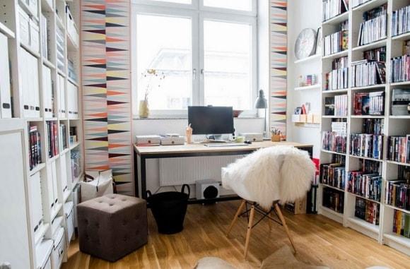 Кабинет скандинавского стиля