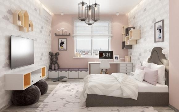 Комната для девушки в скандинавском стиле