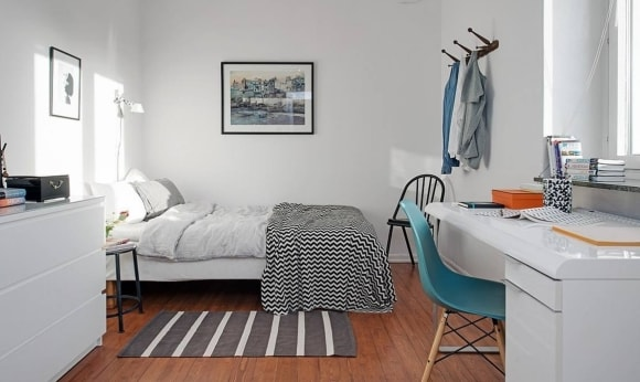 Комната скандинавского стиля для подростка
