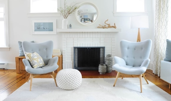 Кресла-ковши в интерьере скандинавского стиля
