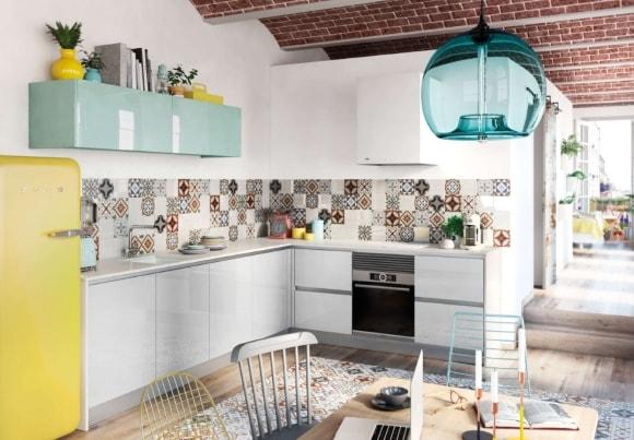 Кухонный фартук в интерьере скандинавского стиля