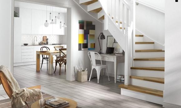 Лестница в интерьере скандинавского стиля