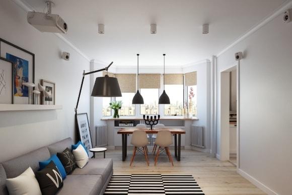 Маленькая квартира в скандинавском стиле