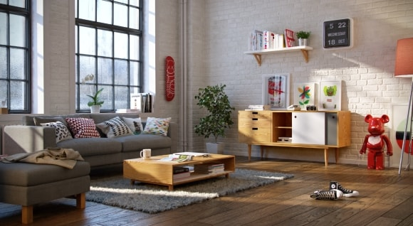 Меблирование большой гостиной в скандинавском стиле