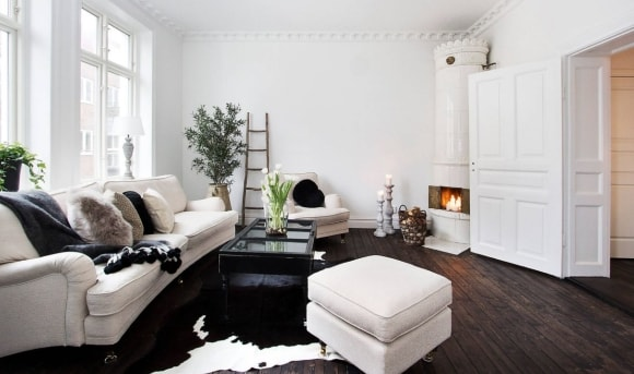 Меблирование маленькой гостиной в скандинавском стиле