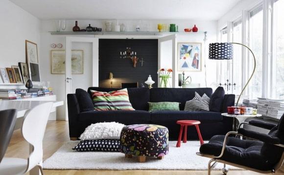 Мягкая мебель, выполненная в сканди-стиле