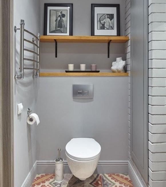 Туалет в скандинавском стиле