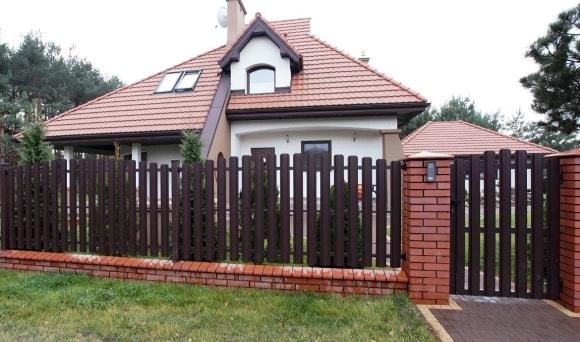 Забор в скандинавском стиле