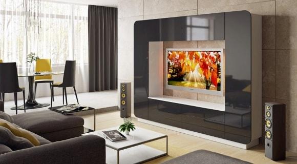 Стенка в гостиной под телевизор