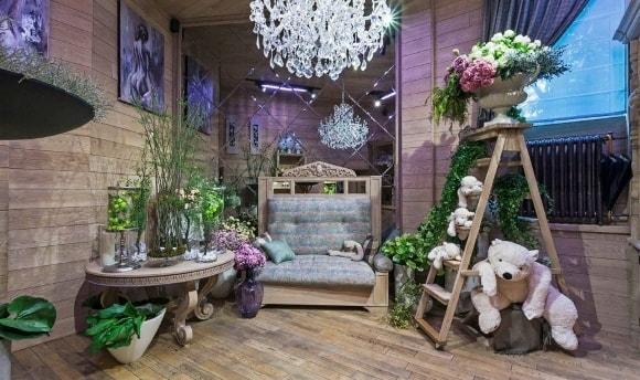 Цветочный магазин, выполненный в стиле прованс