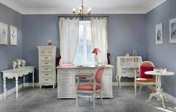 Дизайн интерьера кабинета в стиле прованс
