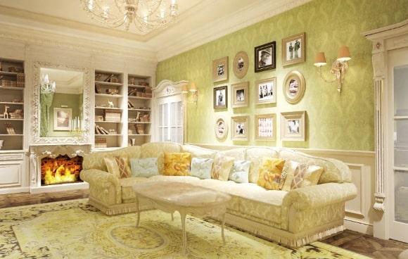 Дизайн интерьера зала в стиле прованс