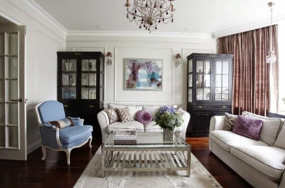 Интерьер, выполненный в стиле классический прованс