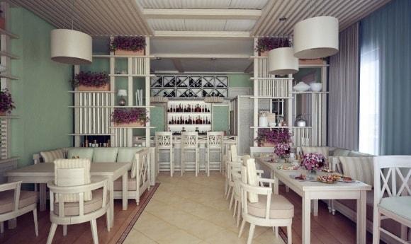 Ресторан, выполненный в стиле прованс