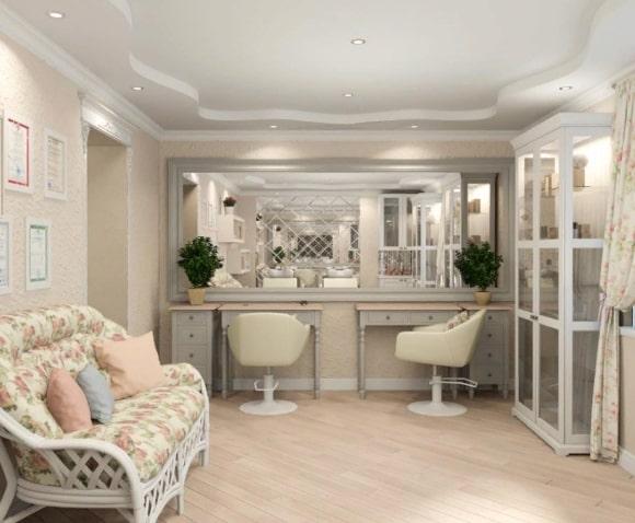 Салон красоты, выполненный в стиле прованс