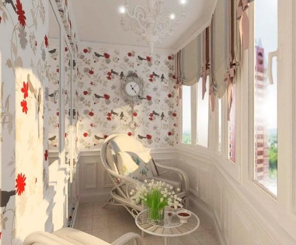 Стиль прованс в дизайне интерьера балкона
