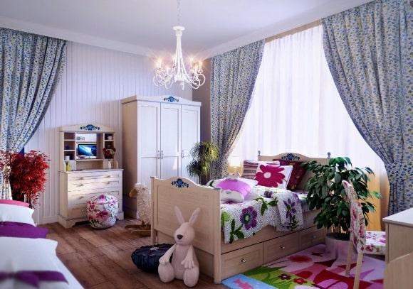 Стиль прованс в дизайне интерьера детской