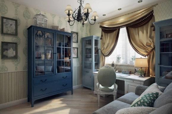 Стиль прованс в дизайне интерьера кабинета