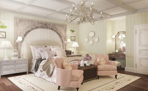 Стиль прованс в дизайне интерьера спальни