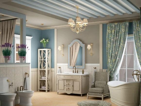 Стиль прованс в дизайне интерьера ванной