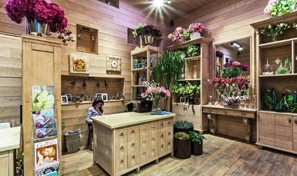Стиль прованс в интерьере цветочного магазина