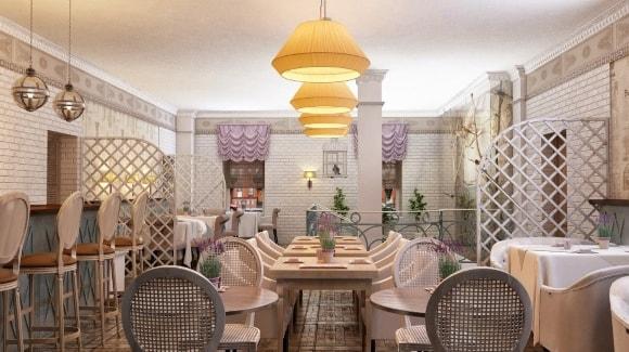 Стиль прованс в интерьере ресторана